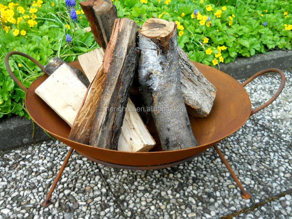 hotsell outdoor fire basket brazier in pits, insert wood fire pit