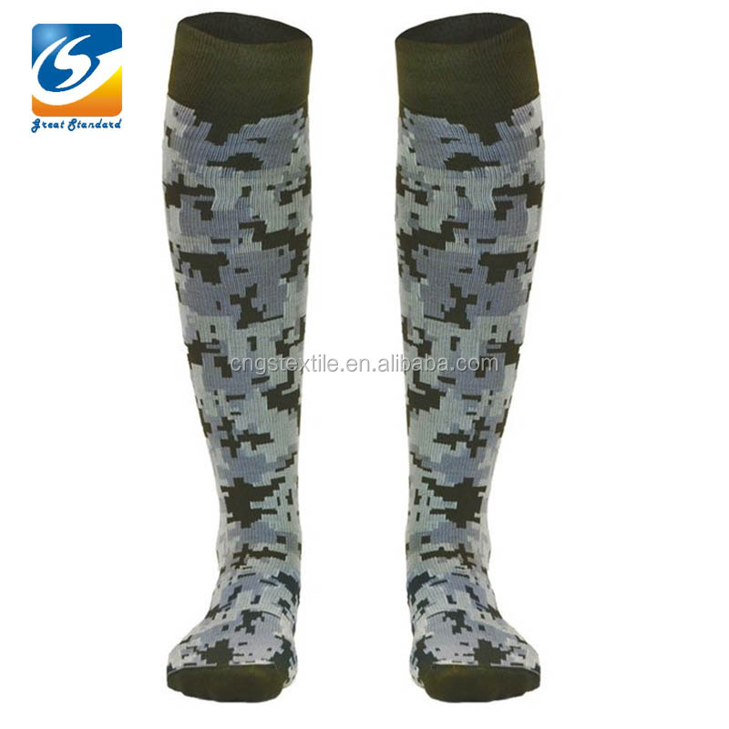 GSM-1119 Jacquard Cotton Performance Knitted Knee High Socks