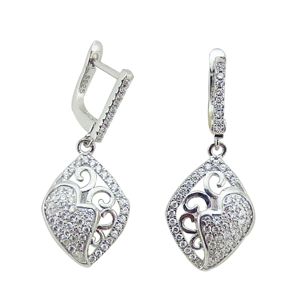 India Cheap Price High Quality with Brass White Gold Plated aaa CZ Bridal Jewelry Set