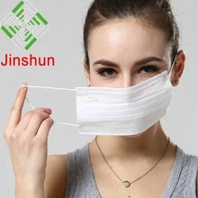 Medical Supplies disposable 3 ply non woven face mask Jinshun brand manufactory in guangzhou