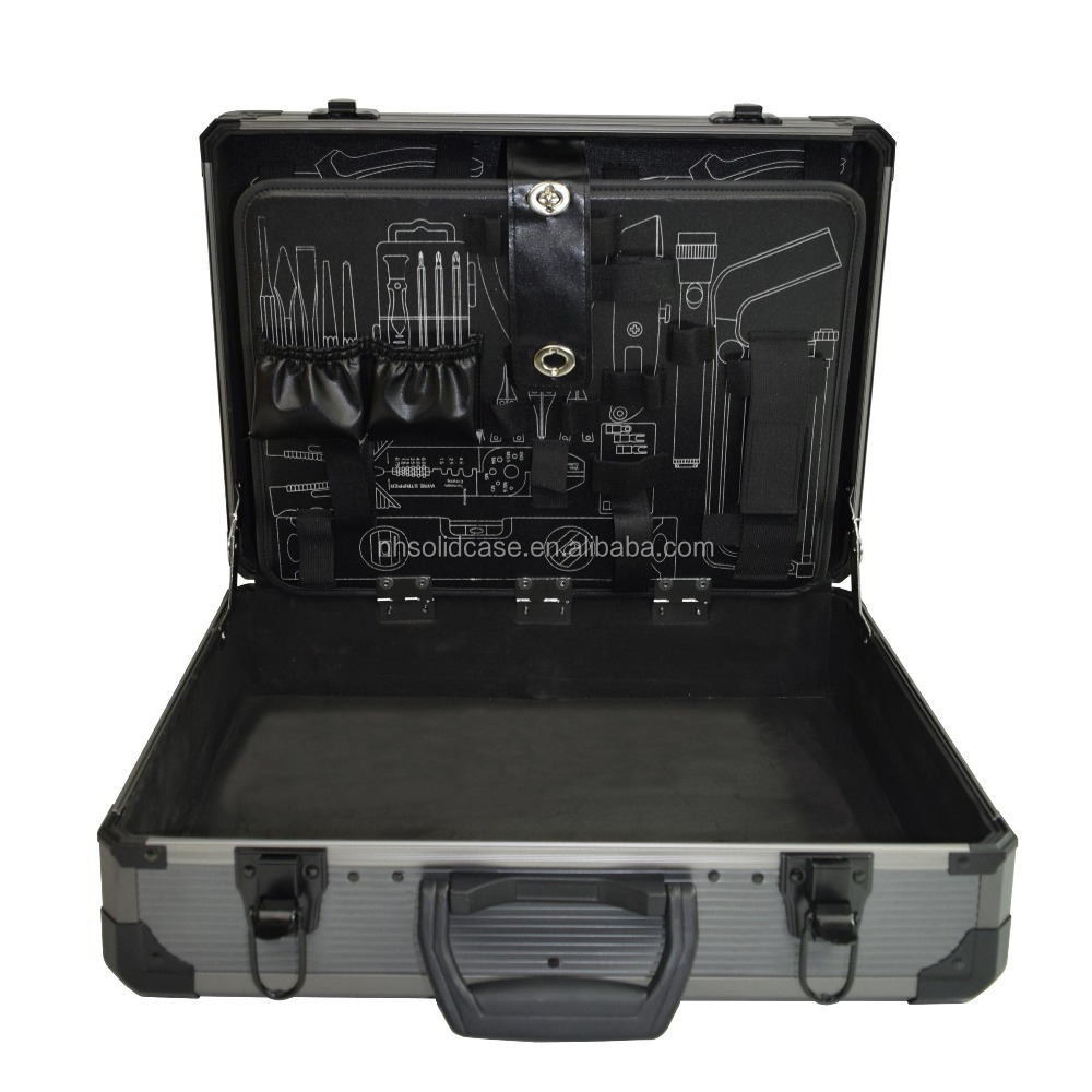 Professional aluminum tool case with tool pallet