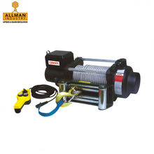 ALLMAN CE approved portable electric winch with 12V DC motor