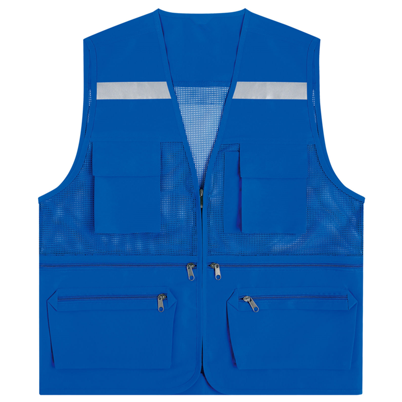 Manufacturer direct high quality cheap custom blue safety vest for hot sale