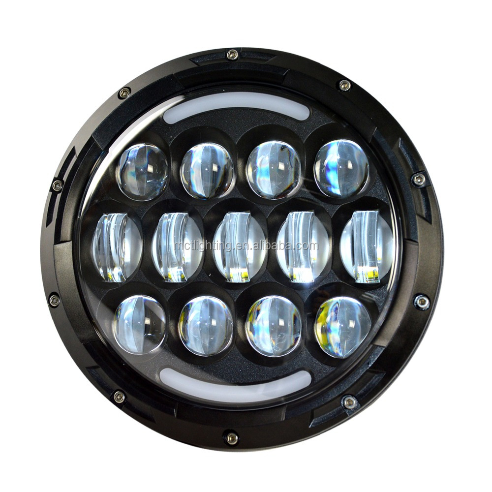 Harley motorcycle Big promotion price 7inch led headlights for jeep headlight led hi low beam jeep jk led headlights tractor