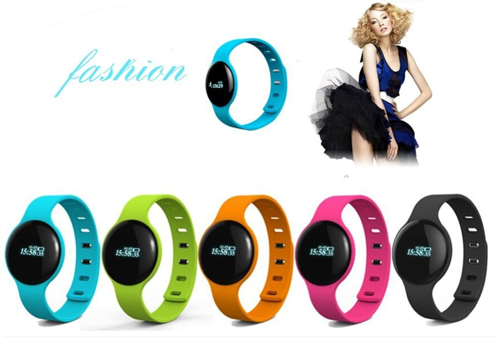 Silicon fitness equipment smart wrist watch with heart rate monitor H18