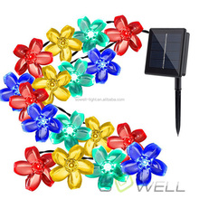 Hot sell products 2017 30 led 6.5m flowers solar led string light