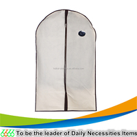 90 GSM nonwoven eco-friendly beige 60x100cm garment bag with PVC window