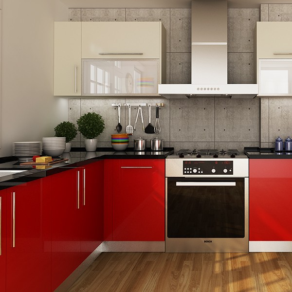 Kenya project modern design round laminate kitchen for Kenya kitchen designs