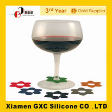 China Manufacture Wholesale Colorful Silicone Wine Glass Cup Identifier