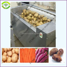 stainless steel brush model carrot washing peeling machine