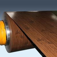 New building construction materials wooden grain PPGI