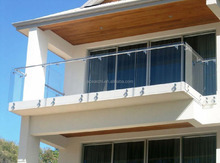 top grade316 stainless steel standoff glass balustrade for decking / balcony