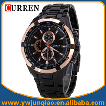 Hot Selling Stainless Steel Japan Quartz Movt Men International Wrist Watch Brands Curren