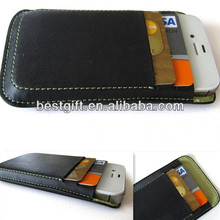 Mobile phone leather case for note 3 leather cell phone case with credit card slots