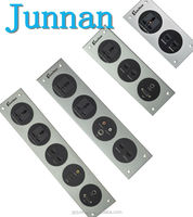 new design for hotel metal material wall switch socket