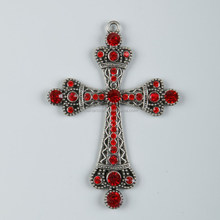 Over 10 years experience handcrafted large size rhinestone cross pendant