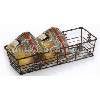 Rustique rusty home kitchen seasoning storage baskets
