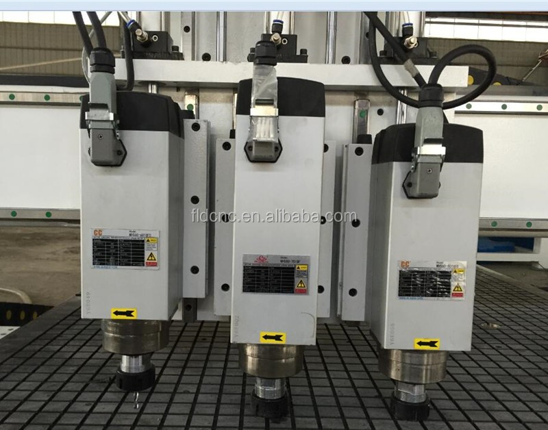 cnc router 1325 three head cnc woodworking router