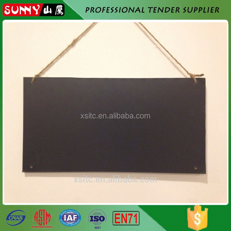 Hot sale rope hanging mdf mini chalk blackboard