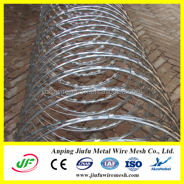 manufacture bto-22 hot dipped galvanized concertina razor wire for sale