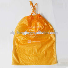 Wholesale machine made custom big plastic garbage bags with drawstring