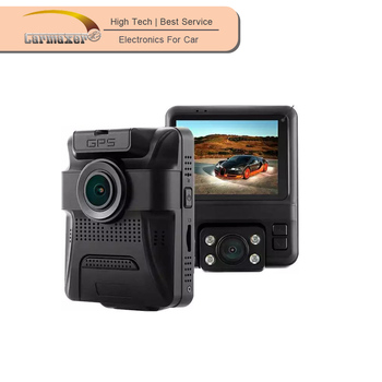 dual camera gps wdr 1080p manual car camera hd dvr