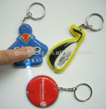 2012 Best price soft pvc led keychain for promotion gift