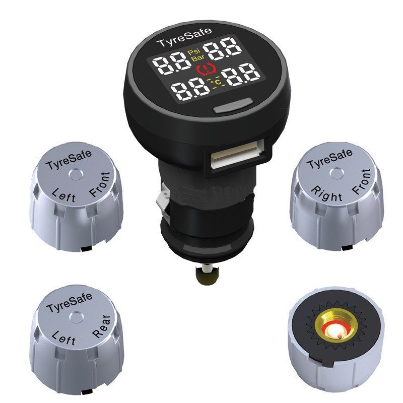 High Quality wireless Car Tire Pressure Monitoring System 4 External Sensors TPMS