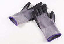 Cotton yarn knit shell latex dipped safety work gloves