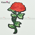 Red flower iron on Embroidery Patches for Wedding Dress