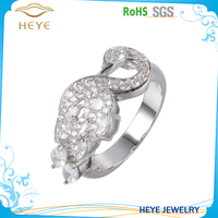 2016 New latest design silver diamond wedding ring for boys