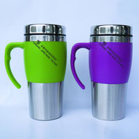eco-friendly stainless steel coffee mugs with handle 450ML