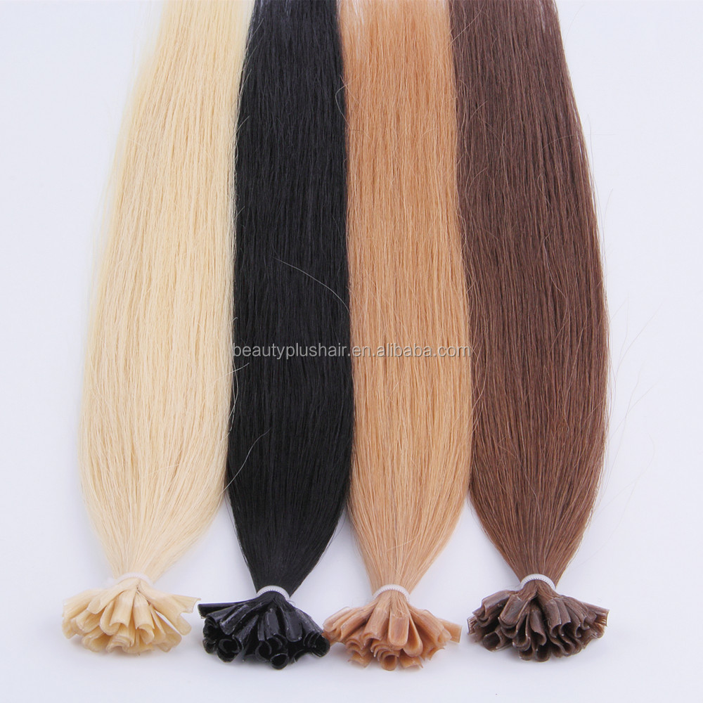 Hot sale 100% remy European prebonded hair extensions wave u tip hair extensions nail tip