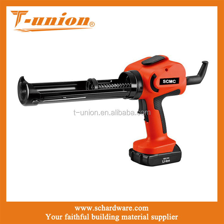 cordless heavy duty chargeable electric caulking gun silicone sealant glue gun for construction