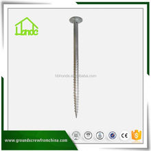 Spiral Drilling Round Earth Screw Pole Anchor