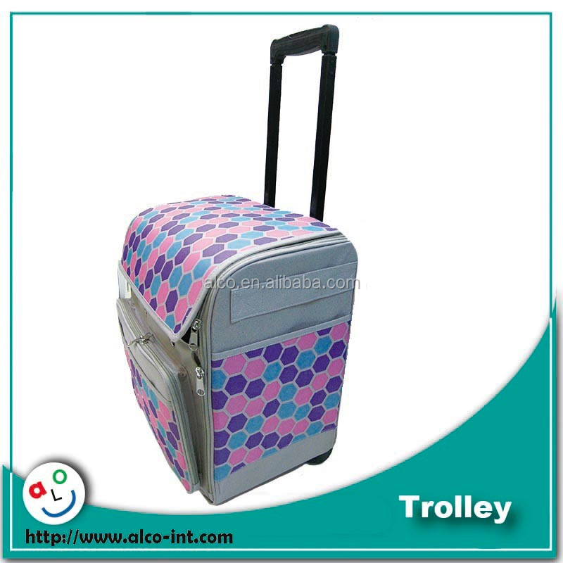 600D polyester sewing machine hobby trolley for luggage