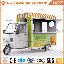 Customized Electric fast food tricycle/coffee vending cart/coffee bike