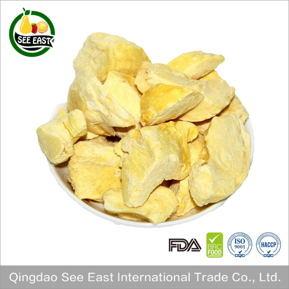 Thai Vacuum Freeze Dried Crispy Durian Chips from Qingdao See East