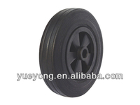 8x2 china manufacture solid rubber wheel with plastic hub
