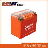 Orange red 12V5Ah YTX5A-BS Gel Type Lead Acid Motorcycle Battery