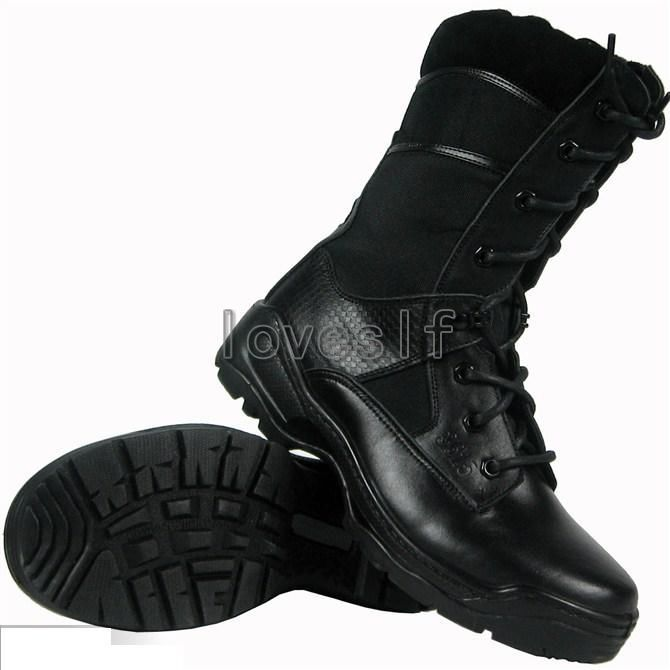 Fashion style good air permeability military Combat boots