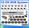 16 ch security system h.264 dvr & Plastic IR Dome Camera,Complete Cctv Systems,Container Home Kits