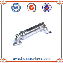 EGR pipe for engine exhaust muffler