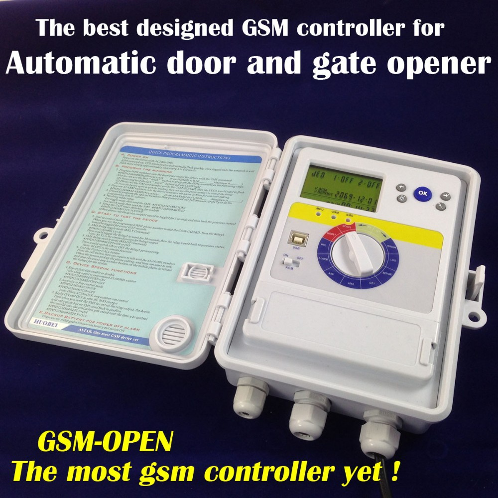 Swing gate opener / gsm controller for electric gate remote control and security