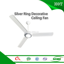 Guang zhou factory decorative ceiling fan with LED light ac adapter battery