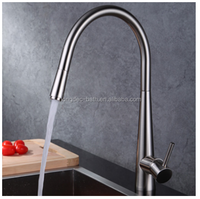 commercial brass kitchen faucet tap with pull out sprayer sink water tap