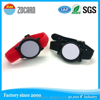 Waterproof logo printable silicone rfid wristband