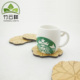 Lotus leaf shape wooden coasters for tea cup Bamboo mats wooden pads