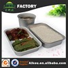 Recycle aluminum rice foil container with lid