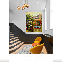 Decorative Wall Picture Handmade Wall Art Street Scenery Painting